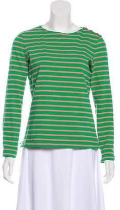 Tory Burch Striped Knit Top