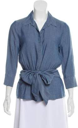 L'Agence Collared Button Up Top