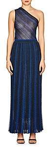 Missoni Women's Striped Mixed-Knit Maxi Dress - Navy