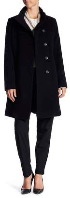 Fleurette Asymmetrical Wool Coat