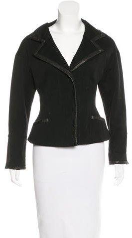 Isabel MarantIsabel Marant Leather-Trimmed Fitted Jacket