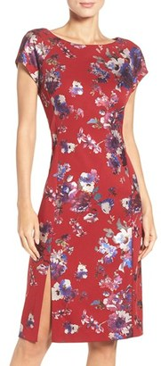 Women's Eci Foil Print Scuba Sheath Dress $88 thestylecure.com