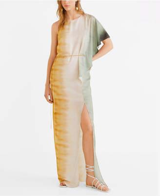 MANGO Long Asymmetric Dress