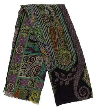 Etro Wool and Silk-Blend Paisley Scarf