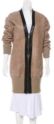 Derek Lam Shearling Zip-Up Coat