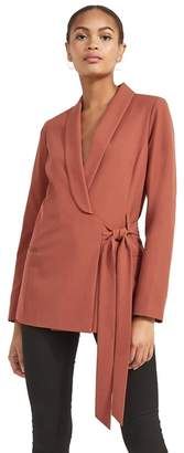 Miss Selfridge Rust Tie Side Jacket