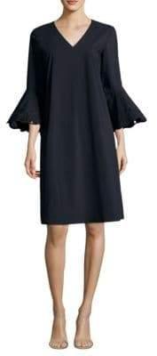Lafayette 148 New York Women's Bell-Sleeve Shift Dress - Ink - Size Medium