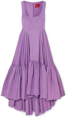 SOLACE London Haye Tiered Woven Midi Dress - Lilac
