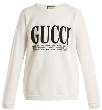 Gucci Crew Neck Cotton Sweatshirt - Womens - Ivory