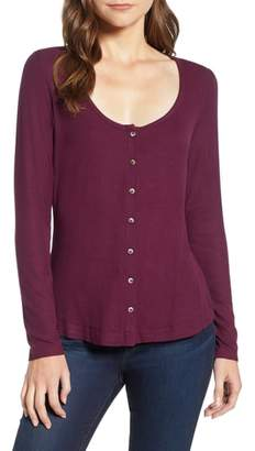 Socialite Button Front Top