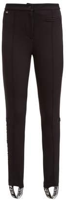 Fendi Logo Jacquard Jersey Ski Leggings - Womens - Black