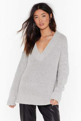 244fe8b8175 Grey Knitted Jumper - ShopStyle UK