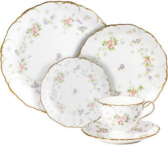 Mikasa Endearment 20 Piece Dinnerware Set with Bread and Butter Plate