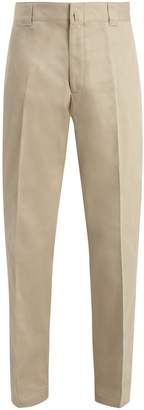 Lanvin Mid-rise straight-leg cotton-twill chinos