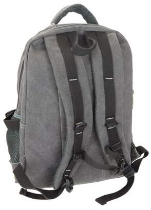 cae720d268ed Montauk Leather Club Heavy Duty Washed Canvas and Leather Accent Backpack  with Interior Padded 17 inch