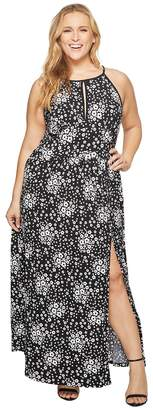 MICHAEL Michael Kors Size Mod Floral Halter Maxi Women's Dress
