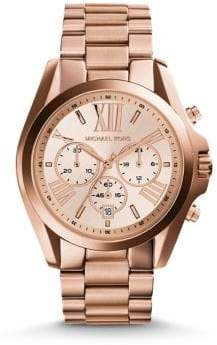 Michael Kors Women's Rose Goldtone Chronograph Watch - Rose Gold