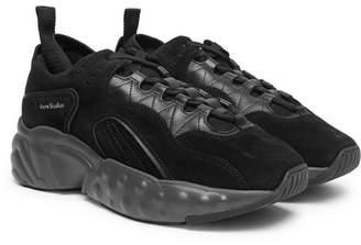 Acne Studios Rockaway Suede, Leather And Mesh Sneakers
