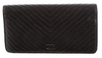 Chanel Chevron Yen Wallet