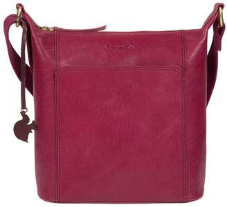 3641599909f4 Conkca London - Orchid  Yasmin  Leather Cross-Body Bag