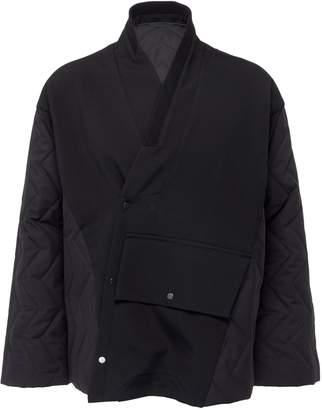 Staffonly 'Wolfgang' knit panel quilted unisex kimono jacket