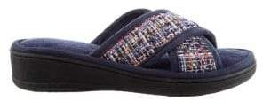 Isotoner Nikki Tweed X-Slide Slippers