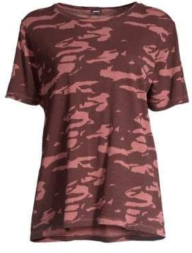 Monrow Two-Tone Cotton Camo Tee