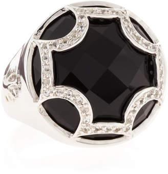 Elizabeth Showers Black Onyx Maltese Canopy Ring, Size 7