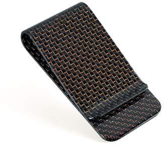 Christian Louboutin CL CABRONLIFE Carbon Fiber Glossy Money Clip CL Carbonlife® Credit Card Business Card Holder (Black matte)