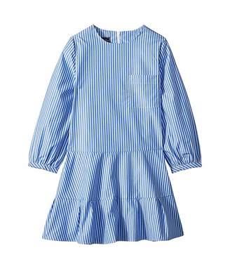 Oscar de la Renta Childrenswear Long Sleeve Tie Bow Front Dress (Little Kids/Big Kids)