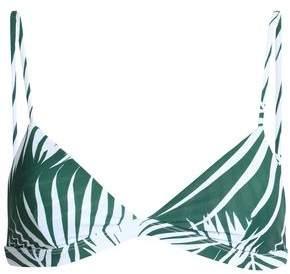 Mikoh Printed Triangle Bikini Top