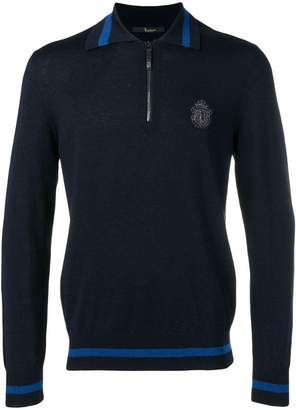 Billionaire army crest polo jumper