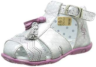 Catimini Baby Girls' Colza First Walking Shoes Silver Size: