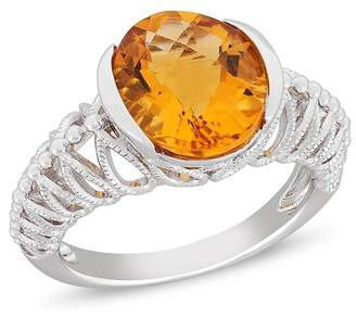 Delmar Sterling Silver Citrine Ring