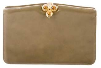 Judith Leiber Smooth Leather Clutch