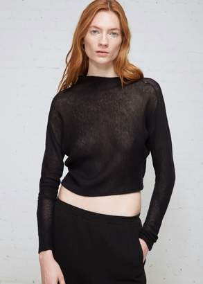 Oyuna Asymmetric Diagonal Rib Long Sleeve Pullover