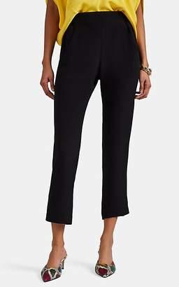 Zero Maria Cornejo Women's Elli Silk Slim Crop Trousers - Black