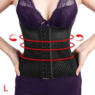 24e854338c0e2 uxcell® Women Breathable Waist Trimmer Trainer Belly Slimmer Body Shaper  Cincher Underbust Corset Shapewear L