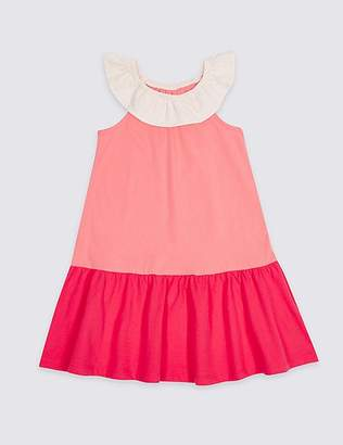 Marks and Spencer Pure Cotton Dress (3 Months - 7 Years)