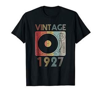 Vintage 1927 Retro Record Player Birthday Vinyl DJ T-Shirt