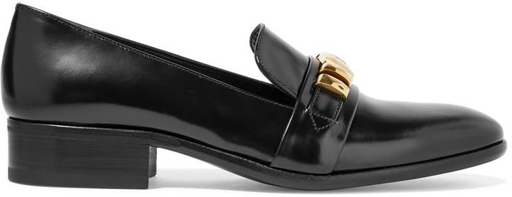 Alexander McQueenAlexander McQueen Embellished leather loafers