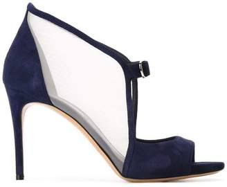 Casadei open toe pumps
