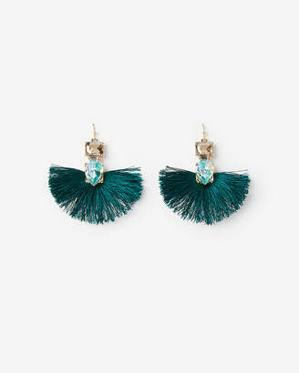 Express Mini Tassel Stone Drop Earrings