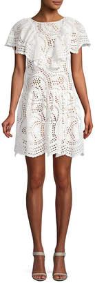 Jill Stuart Eyelet Ruffle Dress