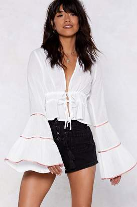 Nasty Gal Ring My Bell Sleeves Blouse