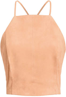 Fifth & Mode Brooklyn Lace-Up Suede Top