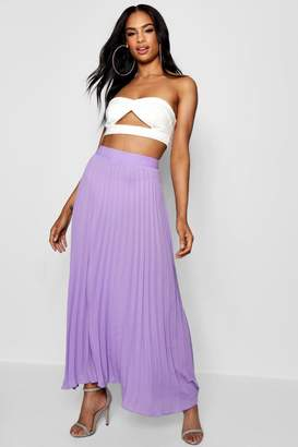 boohoo Tall Pleated Woven Maxi Skirt