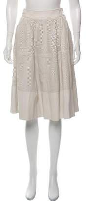 Rachel Zoe Perforated Leather Skirt w/ Tags