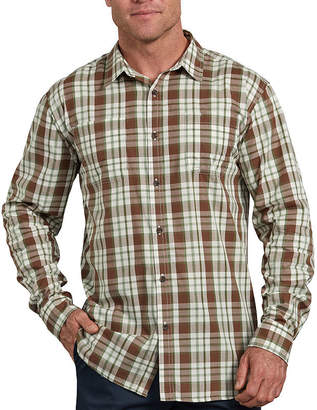 Dickies Long Sleeve Checked Button-Front Shirt