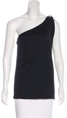 Ralph Lauren Black Label One-Shoulder Sleeveless Top